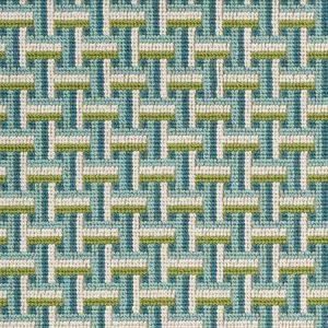 76970 SAXON EPINGLE Peacock Schumacher Fabric