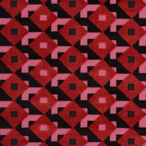 77240 DAZZLE SHIP VELVET Pink Black Schumacher Fabric