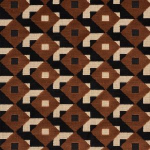 77242 DAZZLE SHIP VELVET Brown Black Schumacher Fabric