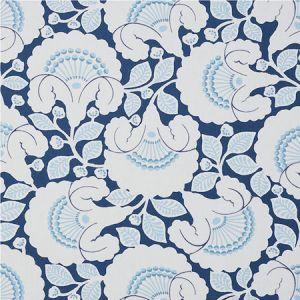 77301 JACKIE APPLIQUE EMBROIDERY Blue Schumacher Fabric