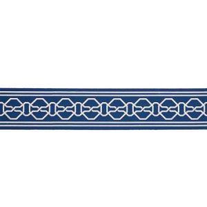 77350 MALMAISON TAPE Blue Schumacher Trim