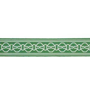 77351 MALMAISON TAPE Green Schumacher Trim