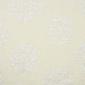 77491 ISLA HAND EMBROIDERY Ivory Schumacher Fabric