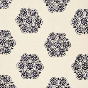 77492 ISLA HAND EMBROIDERY Slate Schumacher Fabric
