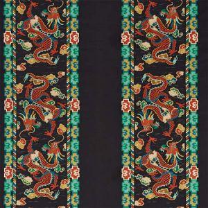 78090 LOTAN DRAGON EMBROIDERY Black Schumacher Fabric