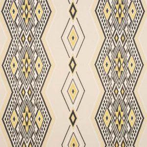 78152 BAYETA EMBROIDERY Yellow Neutral Schumacher Fabric