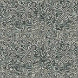 MENO MAZE Navy Fabricut Fabric