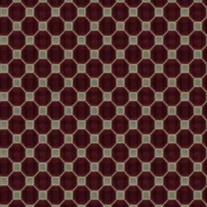 RITEN HEX Ruby Fabricut Fabric