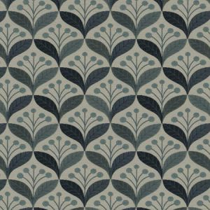 CALDER LEAVES Indigo Fabricut Fabric