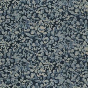 UNISA LEAVES Lapis Fabricut Fabric