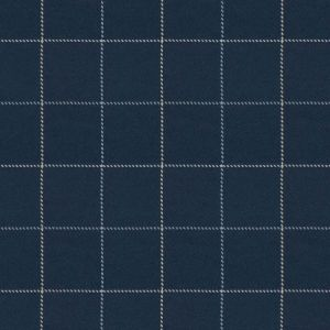 BRENNAND CHECK Navy Fabricut Fabric