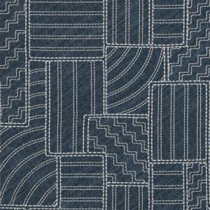 ROUGH PATCH Midnight Fabricut Fabric