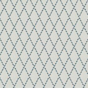 CARICATURE Navy Fabricut Fabric