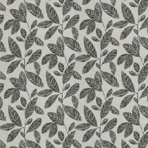 WIRTH LEAVES Jet Fabricut Fabric