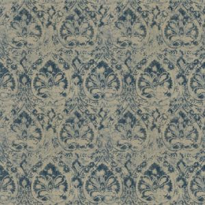 CRITIQUE DAMASK Navy Fabricut Fabric