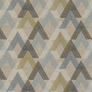 VASHEM ARROW Ocean Fabricut Fabric