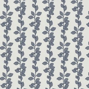 ROSSEAU LEAVES Navy Fabricut Fabric