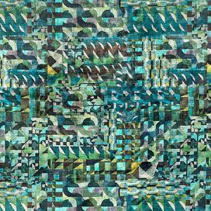 A9 0003AMAZ AMAZINK VELVET Green Landscape Scalamandre Fabric