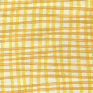 AC105-2LC COUNTRY CHECK Yellow Gold on Tint Quadrille Fabric