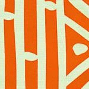 AC113-SU CANDU Orange on White Quadrille Fabric