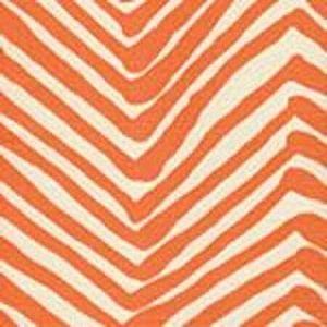 AC302-05 ZIG ZAG New Orange on Tint Quadrille Fabric