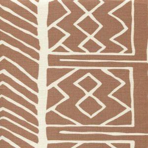 AC812-07 ARUBA II BACKGROUND Tobacco on Tint Quadrille Fabric