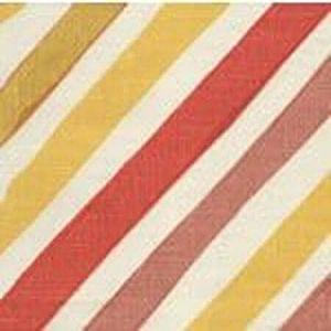 AC830-05 SILVIO Terracota Gold Yellow on Tint Quadrille Fabric