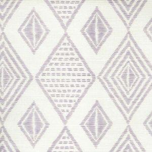 AC850-04 SAFARI EMBROIDERY Soft Lavender on Tint Quadrille Fabric