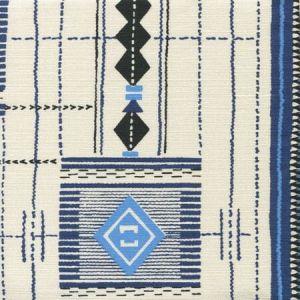 AC900-01 PALOMA MEDIUM SCALE Multi Blues with Black Quadrille Fabric