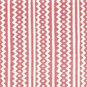 AC935-04 RIC RAC New Shrimp On Tinted Linen Cotton Quadrille Fabric