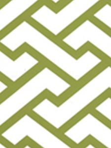 6340-16WWM AGA Apple Green On White Matte Quadrille Wallpaper
