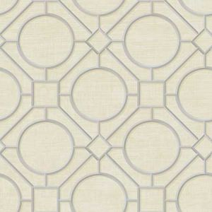 AI42403 Silk Road Trellis Metallic Silver and Linen Seabrook Wallpaper