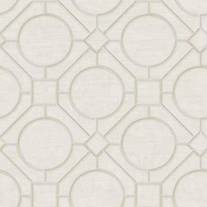 AI42411 Silk Road Trellis Metallic Pearl and Off-White Seabrook Wallpaper
