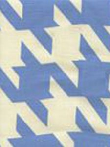 4070-07 AMES HOUNDSTOOTH French Blue on Tint Custom Only Quadrille Fabric