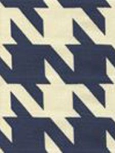 4070-06 AMES HOUNDSTOOTH Navy on Tint Custom Only Quadrille Fabric