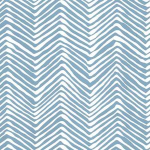 AP303-1 PETITE ZIG ZAG Blue On White Quadrille Wallpaper
