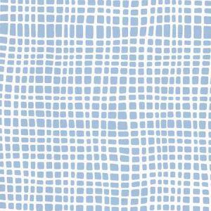 AP403-09PV CRISS CROSS Slate Blue On White Vinyl Quadrille Wallpaper