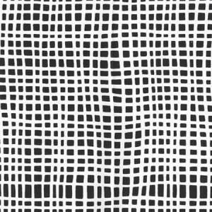 AP403-10 CRISS CROSS Black On White Quadrille Wallpaper
