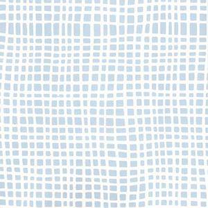 AP403-15 CRISS CROSS Swiss Blue On Almost White Quadrille Wallpaper