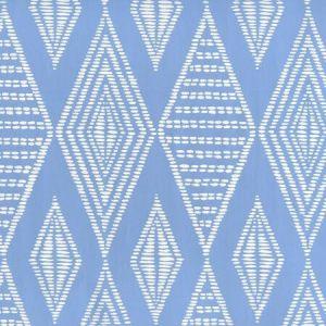 AP855-05 SAFARI French Blue On Almost White Quadrille Wallpaper