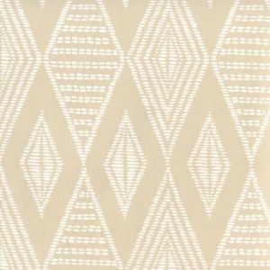 AP855-BEIGE SAFARI Beige On White Quadrille Wallpaper