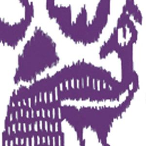 2435-40WP BALI ISLE Purple On Off White Quadrille Wallpaper