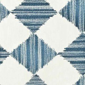 Banff 3 Blue/White Stout Fabric
