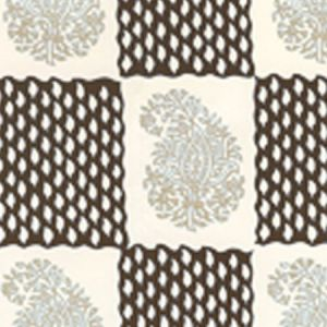 5090-01WP BANGALORE Taupe Brown Quadrille Wallpaper