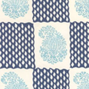 5090-02WP BANGALORE New Blue Navy Quadrille Wallpaper