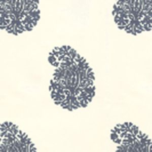 6040-02WP BANGALORE PAISLEY Navy On Almost White Quadrille Wallpaper