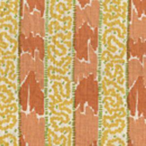 5060-05 BIJOU STRIPE Melon Yellow Green Quadrille Fabric