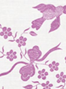 5050-04 BIRDS II Lilac on White Quadrille Fabric