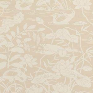 BW45089-2 Heron & Lotus Flower Stone GP & J Baker Wallpaper