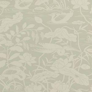 BW45089-3 Heron & Lotus Flower Aqua GP & J Baker Wallpaper